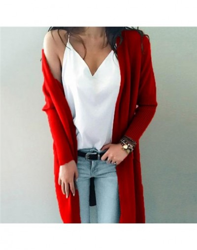Casual Knitting Long Cardigan Female Loose Cardigans Knitted Jumper Warm Winter Sweater Women Soft Cardigan Coat Outerwear -...