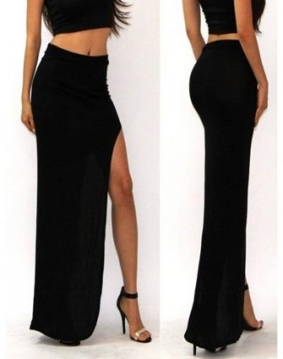 Lady high waist skirts women sexy long skirt S M L large size elegant party midi skirt fashion maxi skirt black brown - Blac...