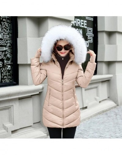 2019 New Fashion Long Winter Jacket Women Slim Female Coat Thicken Parka Down Cotton Clothing Red Clothing Hooded Student - ...