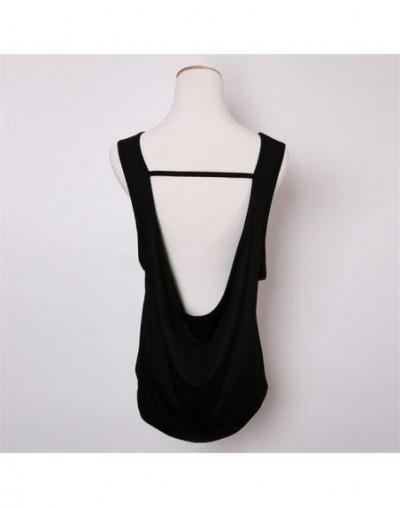 High quality Backless Tank top Women Black Sleeveless Loose Vest Shirts Temperament Women Vest Tops Female fashion Sexy clot...