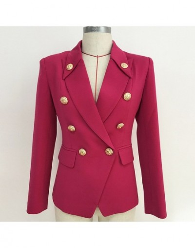 High Quality Newest Runway Designer Women's Jackets And Blazer Double Breasted Metal Button Office Lady Blazers Female Outwe...