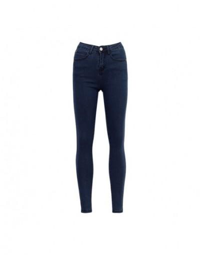 Basic Jeans For Women Skinny High Waist Jeans Woman Denim Pencil Pants Stretch Waist Women Warm Fleece Jeans - Light blue - ...