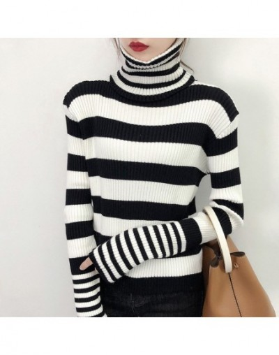 2018 New Autumn Winter Turtleneck Sweater Women Fashion Knitted Casual Pullover Long Sleeves Elasticity Femme jumper - black...