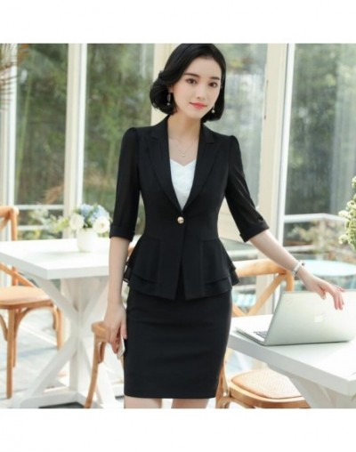 Formal women white Pants suits summer fashion elegant Ruffles half sleeve blazer and pants office Interview plus size Work w...