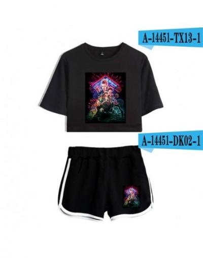 Designer Stranger things Women 2 Piece Set Summer Cotton Short Sleeve t shirt+Shorts Exercise Vitality Sexy Clothing Coats -...