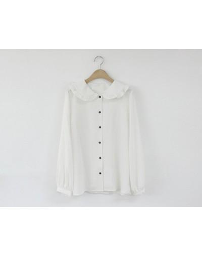 Solid Fashion Women's Blouse 2019 new Spring Woman Blouses Long Sleeve Shirts Women Tops Harajuku - White - 483075986825-2
