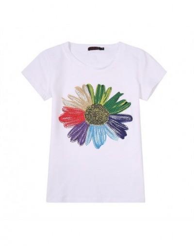 Diamonds T Shirt Women 2019 Camisas Femininas O-Neck T-Shirt Short Sleeve Tshirt Floral Tees Womens Tops Casual Tee Shirt Fe...
