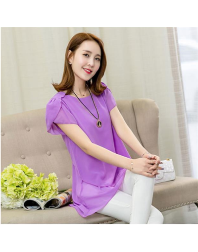 2019 Fashion Brand Women's blouse Summer sleeveless Chiffon shirt Solid O-neck Casual blouse Plus Size 5XL Loose Tops 6 colo...