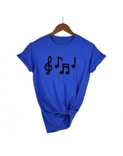 Music Notes Funny Printed T Shirt Women Summer Music Short Sleeve Tshirts Harajuku T-Shirt Girl Casual Tops t shirt Brand - ...