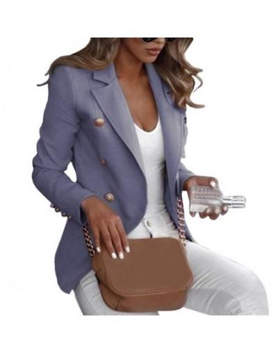Autumn Solid Women Blazer Suit Coat Autumn OL Work Bussiness Jacket Jackets Veste Femme Slim Ladies Blazer Feminino - Gray -...