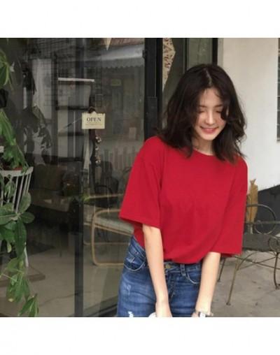2018 Casual Solid Ladies Black White Cotton Oversize T Shirt Women Tshirt Plus Size Short Sleeve O-neck DX612 - JuHong - 4P3...