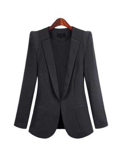 2018 New Plus Size 5XL Womens Business Suits Spring Autumn Women Blazers Jackets Slim long-sleeve Outwear LX1396 - black - 4...