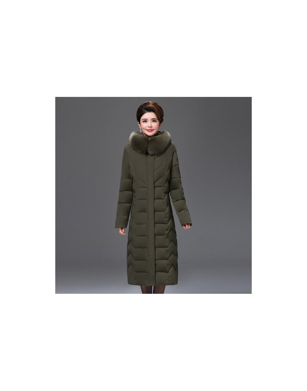 European style 2019 High Quality Winter Jacket Women X-long Fur Collar Hooded Female Plus Size 5XL 6XL Coat Warm Womens Park...