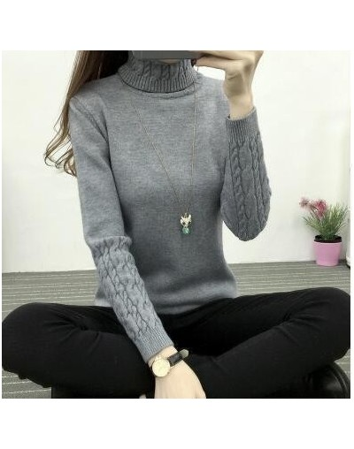 high quality Women Turtleneck Winter Sweater Women Cashmere Knitted Women Sweaters And Pullovers Female Jumper Tricot Tops -...