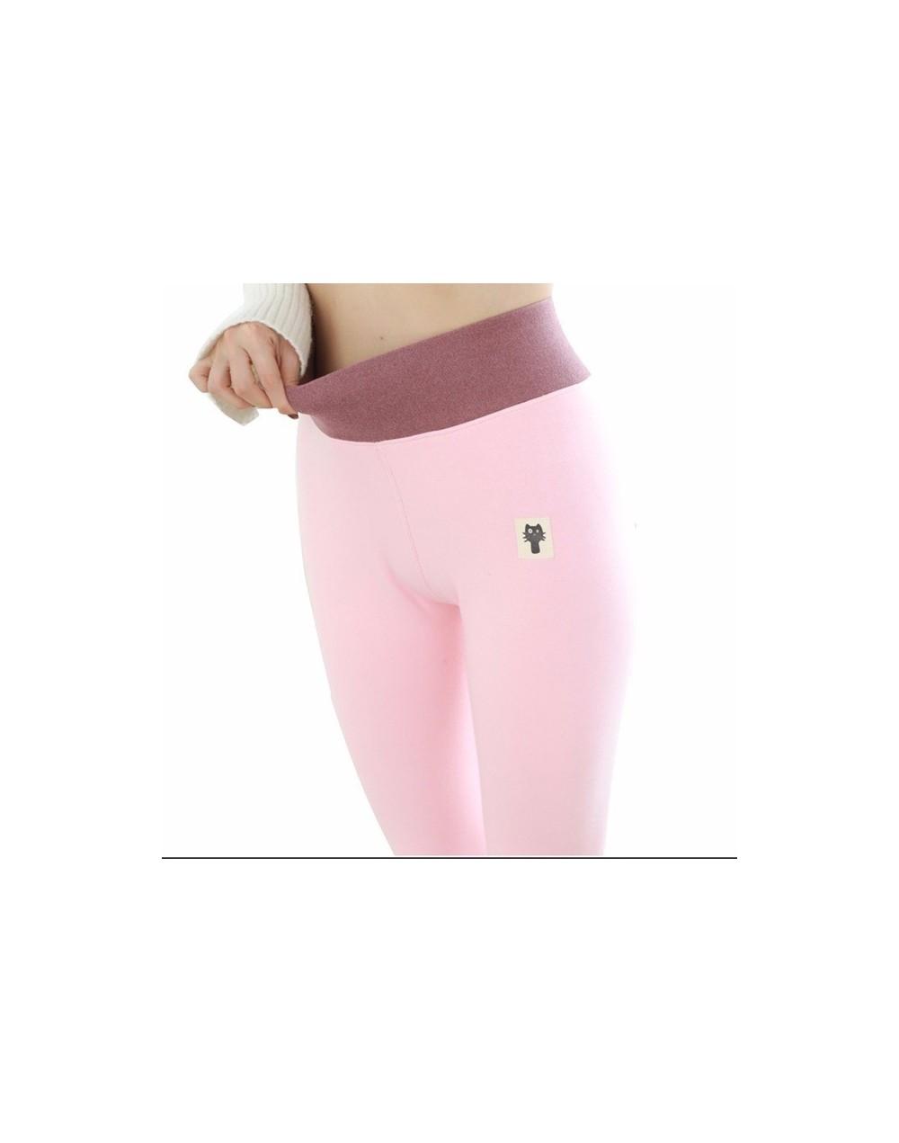 Winter Women Leggings Thick Winter Warm Pants High Waist Slimming Thicken High Elastic Women's Velvet Pants Warm Legging - p...