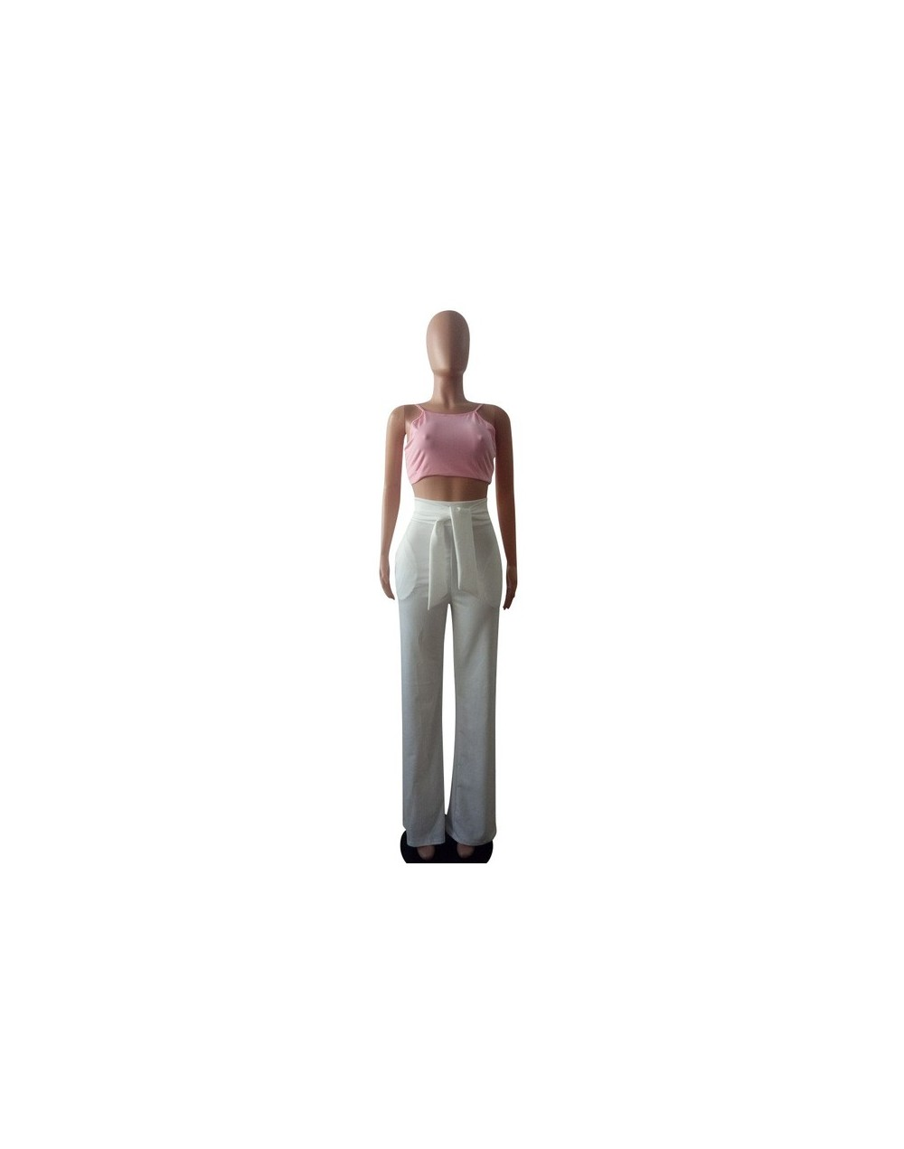 2018 New Sexy Stretch High Waist Flare Pants Women Elastic Loose Wide Leg Pants Female Solid Casual Trousers with Pocket - w...
