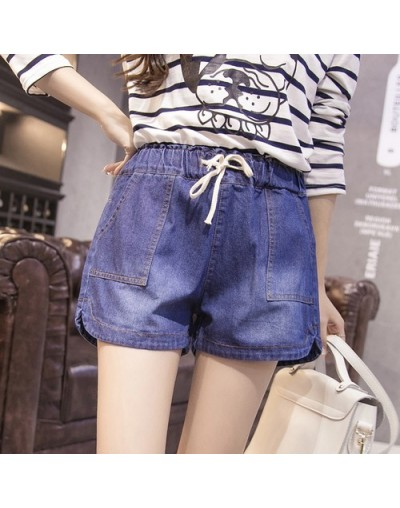 7XL New spring 2019 fashion shorts women denim female shorts solid blue short Jeans hole Style plus size for women a shorts ...