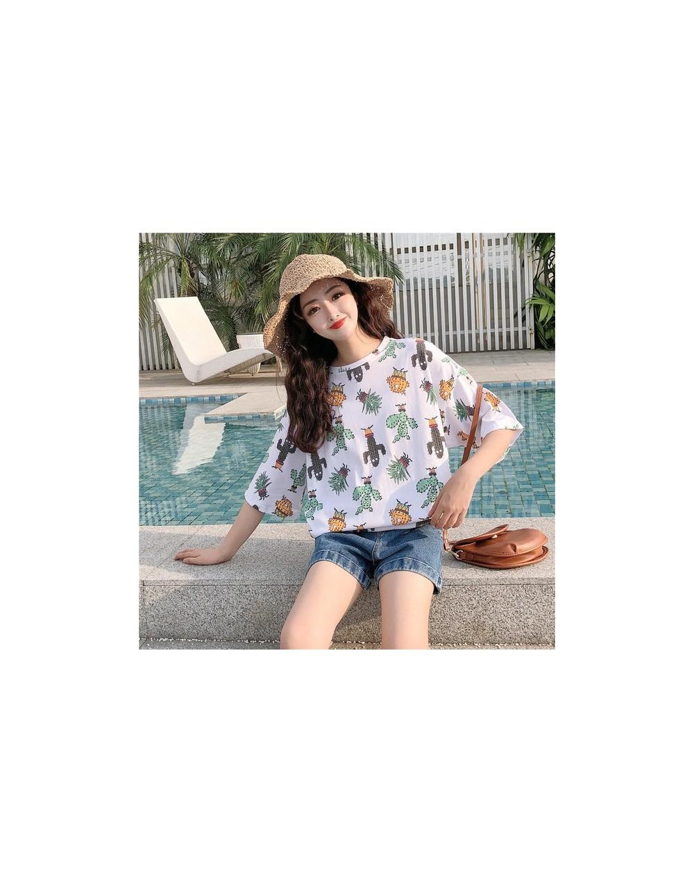 Harajuku Casual letter print t-shirts Female summer Women Short Sleeve T Shirt Oversize tshirt Loose hip hop streetwear tee ...
