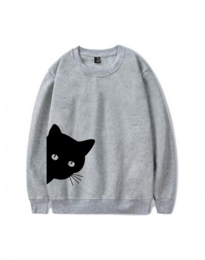 Cat Looking Out Side Print Women Sweatshirts Casual Hoodies For Lady Girl Hipster Jumper Kawaii Cat Sweatshirt hoodies kpop ...