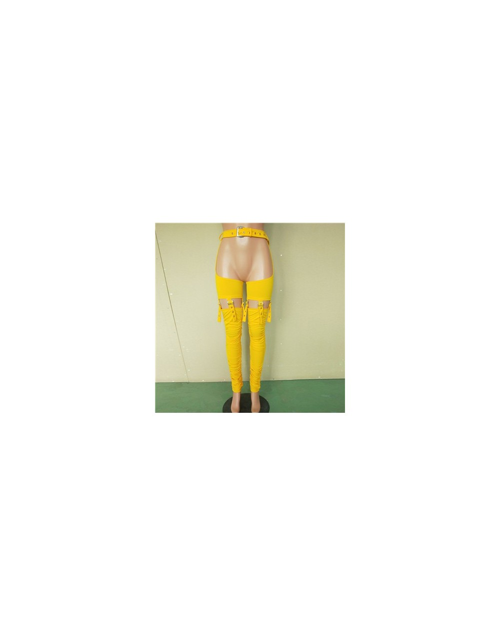 PU Leather Nightclub Pencil Pants Women's Hollow Out Party Bottom High Waist Patchwork Sexy Trousers 2019 Summer Pantalon Mu...