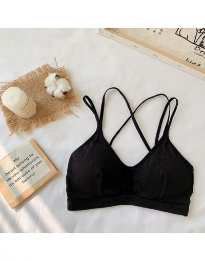 Crop Top Women 2019 Women Strap Top Women Sexy Backless Leakage Navel Solid Camisole Sexy Tank Top Tube Breathable Crop tops...