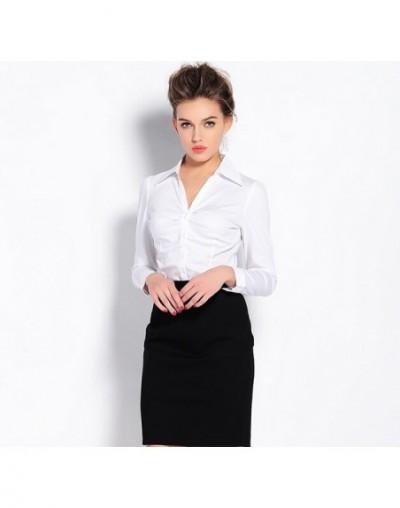 Plus Size Blouse Women 2019 Blusas Body Shirt Womens Blouses Blue White Tops Formal Long Sleeve Slim Office Woman Work Cloth...