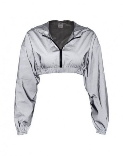2019 Summer Women Tracksuit Zip Reflective Light Jackets Crop Tops Or Short Skirt Casual Sports Suit Festival Clothes One Pi...