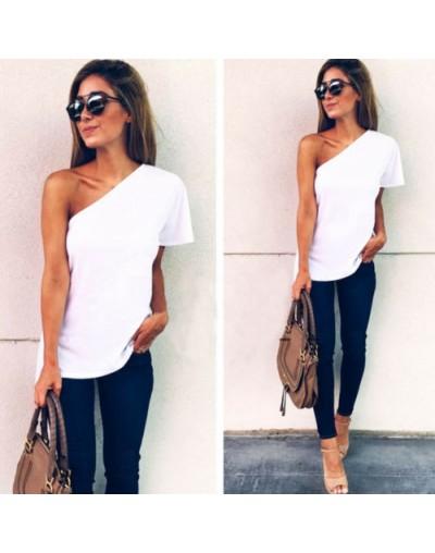 One off shoulder top ruffles T shirt women tops 2017 summer autumn casual shirt Long sleeve cool sexy blusas - White - 4G395...
