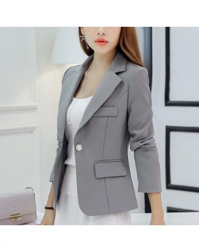 Autumn Women Slim Blazer Coat 2016 New Fashion Casual Jacket Long Sleeve One Button Suit Ladies Blazers Work Wear C0966 - C0...