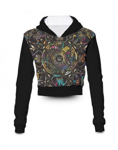 Any color Any Printing Custom made Rainbow Mandala 3D Sublimation Printing crop hoody hoodie Plus Size Clothing - 4L4127347817