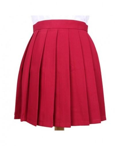XS-3XL Hot Women Pleated Skirts 2018 High Waist JK Cosplay Uniform Skirt for Girl Macaron Solid Color Kawaii Female Skirts S...