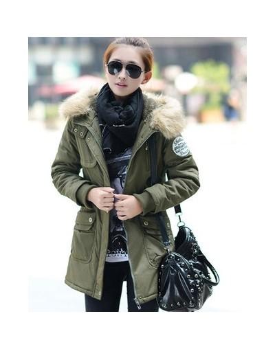 Russian Winter Thick Warm Parkas Women Jacket and Coats 4XL Military Style Winter Jacket Women Faux Fur Hooded Outwear Femal...