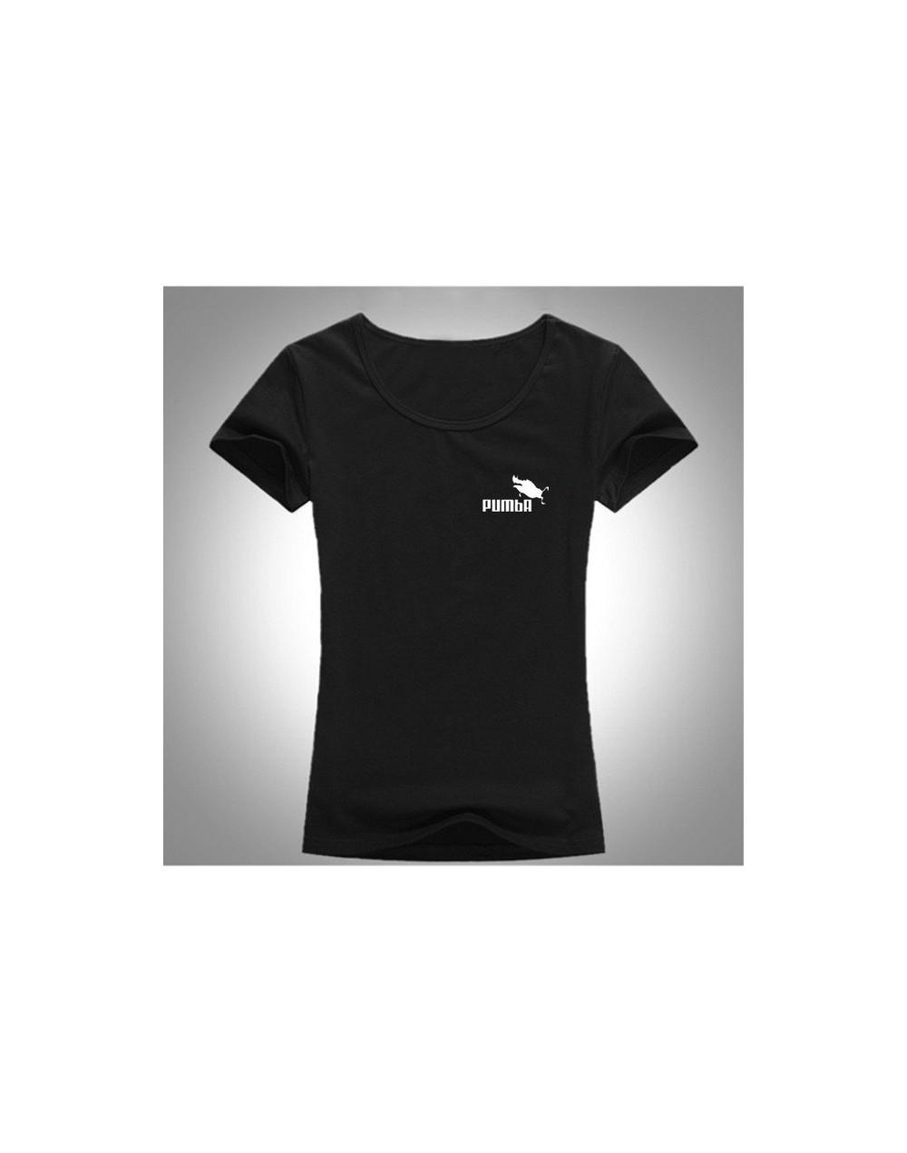 2019 New Summer T Shirts Womens Tshirts Female girl Tops Tees T-Shirt pumba Slim womans Short sleeve Plus Size M 3XL pum4018...