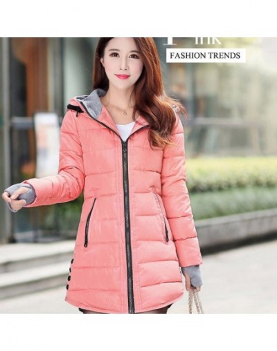 Warm Winter Jackets Women Fashion cotton padded Parkas Casual Hooded Long Coat Thicken Zipper Slim Fit Plus Size Long Parka ...