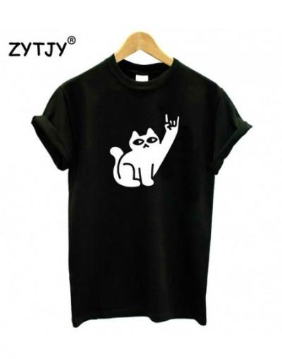 Cats Like Metal Print Women tshirt Cotton Casual Funny t shirt For Lady Yong Girl Top Tee Hipster Tumblr Drop Ship S-24 - Bl...