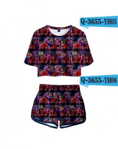 Hot Stranger things 3D Print Summer Two Piece Sets Women Sexy Beautiful 3D Stranger things T Shirt+Shorts Women Slim Sets - ...