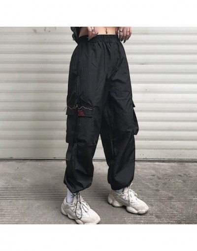 casual style ulzzang Women's Clothing loose Harajuku style Ankle-length pants unisex pockets cargo pants casual hip hop new ...
