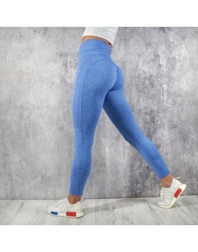 Woman Workout Push Up Leggings High Waist Women Leggings Female Clothing Jeggings Women Sports Leggings - Blue - 4L3072582865-2