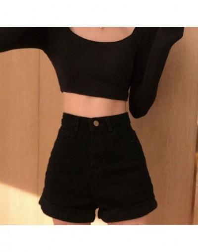 2 Colors Mihoshop Ulzzang Korean Korea Women Fashion Clothing High Waist Casual Preppy Denim Jeans Shorts - see chart - 4241...