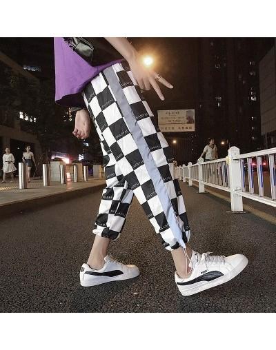 Reflective Harem Gothic Pants Women Hip Hop Streetwear Ankle Length Trousers Plus Size Mid Loose Pencil Pantalon Female - pl...