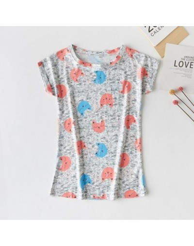 2019 new casual short-sleeved shirt shabby printed five-pointed star fruit cartoon women's T-shirt - h41 - 4E3079007294-13