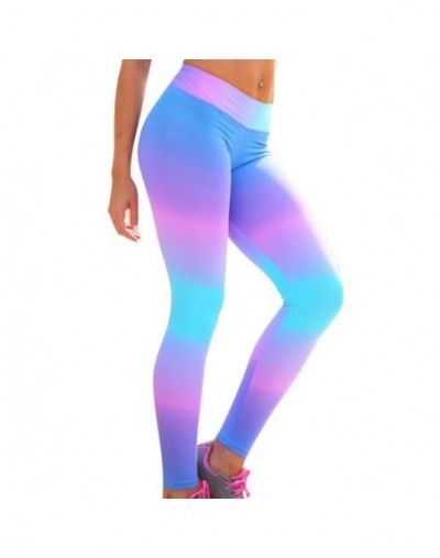 Printed Women Leggings High Waist 2018 Slim Jeggings Workout Basic Bottoms Summer Leggin Femme Pants Wholesale New - colorfu...