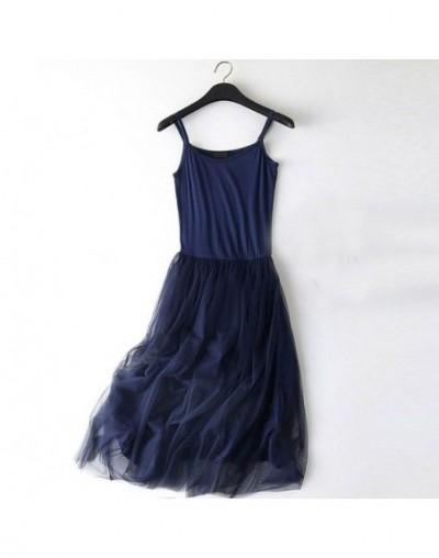 Sexy Spaghetti Strap Patchwork Mesh Dress Spring Summer Women Gauze Lace Tank Casual Dresses Sundress Party Vestidos LQ0009 ...