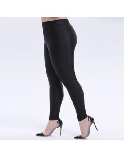 lady street casual solid full pant shiny pure black stretch pencil leggings mujer slim fitness leggins legins women trousers...