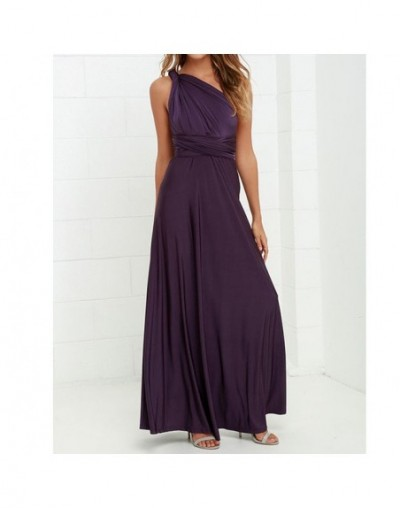 Sexy Long Dress Bridesmaid Formal Multi Way Wrap Convertible Infinity Maxi Dress Navy Blue Hollow Out Party Bandage Vestidos...