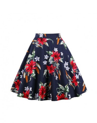 Plus Size Vintage Skirt Wop loose Woman Girls Print Retro Ball Gown Skirt Femininos Casual Sexy Swing Vestidos - TM-1657-2 -...
