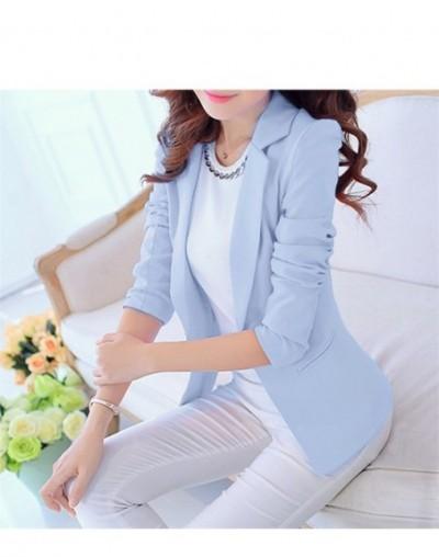 Women Blazers And Jackets Suit 2016 Spring Autumn Fashion Single Button Blaser Female White/Black/Pink/Blue Ladies Blazer Fe...