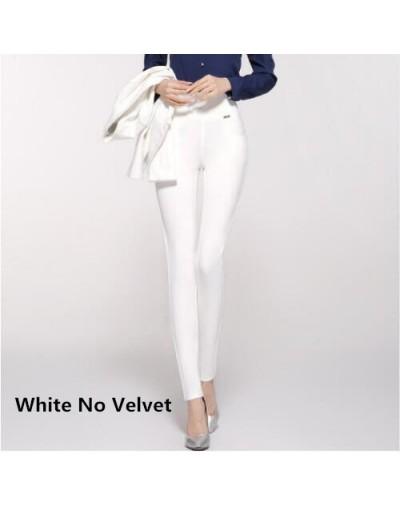 Thick Velvet Pants Large Size 6XL 2018 Winter Women Pants Warm Plus High Waist Stretch Pencil Pants Female Trousers - White ...