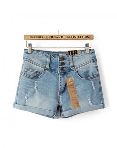 2018 Summer New Korean Women Thin Beaded Three-dimensional Hole High Waist Shorts Denim Shorts for Women Loose Plus Jeans Sh...