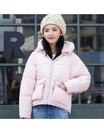 Fashion 2019 Winter Jacket Women Hooded Stand Collar Cotton Womens Basic Jackets Outwear Female Coat Short Coats Chaqueta Mu...